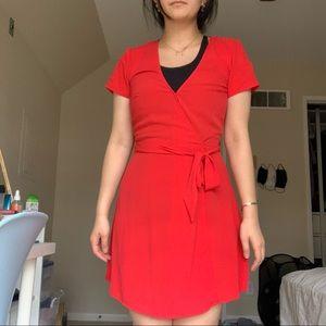 H&M Red Wrap Dress